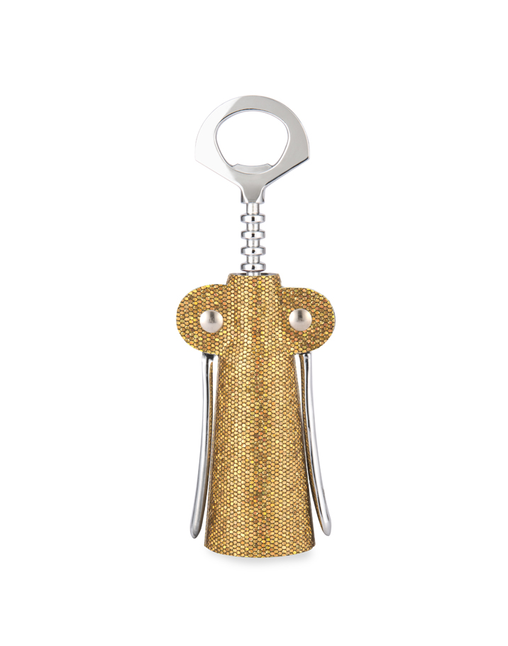 Gold Glitter Fabric Wrapped Corkscrew-0